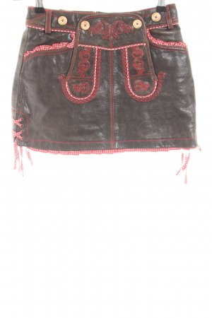 Krüger Dirndl Traditional Skirt brown-red classic style