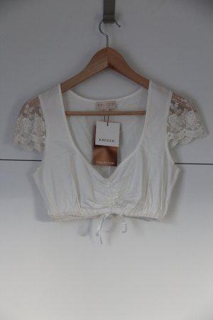 Krüger feelings Tradycyjna bluzka biały-w kolorze białej wełny Bawełna