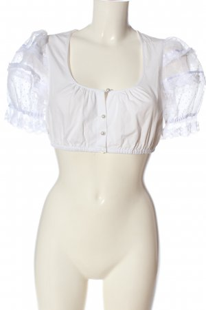 Krüger feelings Blusa tradizionale bianco stile casual
