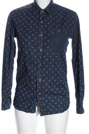 Krüger Denim Shirt blue themed print casual look