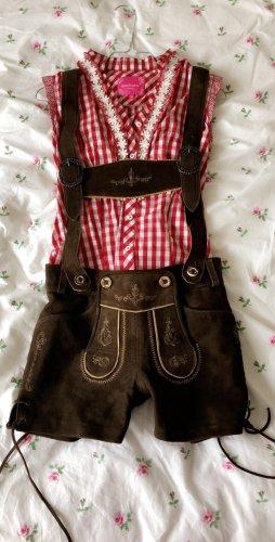 Krüger Pantalone in pelle tradizionale multicolore
