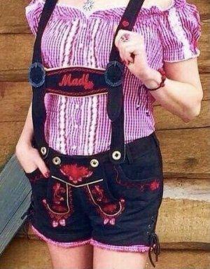Krüger MADL Tradycyjne skórzane spodnie czerwony-brązowy Skóra