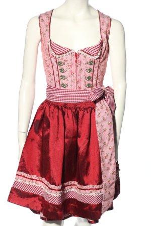 Krüger MADL Dirndl pink allover print classic style