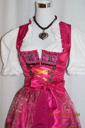 Krüger Madl Dirndl pink GR 34 XS Kleid + Schürze + Bluse