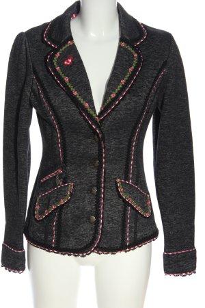 Krüger MADL Knitted Blazer black-pink check pattern elegant