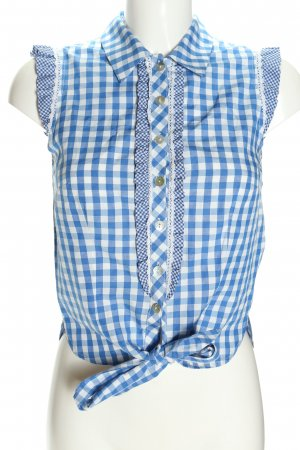 Krüger MADL Traditional Blouse blue-white allover print elegant