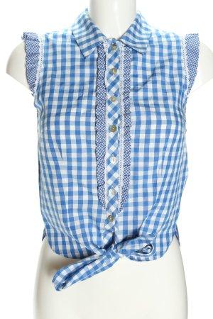 Krüger MADL Blusa tradizionale blu-bianco stampa integrale elegante