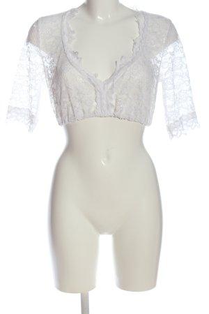 Krüger Blusa in merletto bianco stile casual