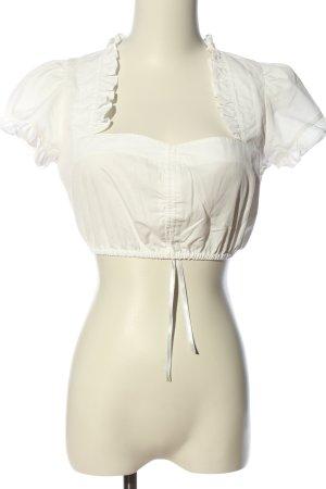 Krüger Folkloristische blouse wit casual uitstraling