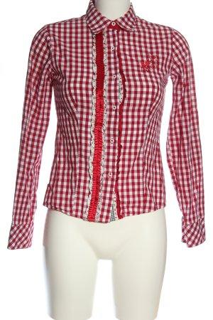 Krüger Traditional Shirt white-red check pattern elegant