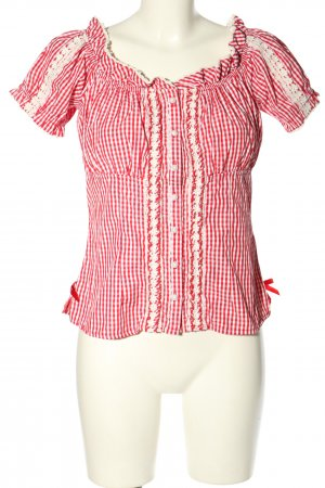 Krüger Traditional Shirt red-white allover print classic style