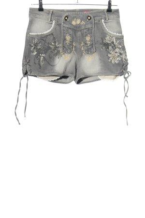 Krüger Pantalon bavarois motif de fleur style décontracté