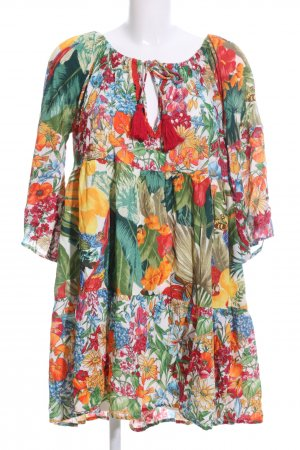 KRYSTALL by M.S. Design Tunic Dress flower pattern casual look