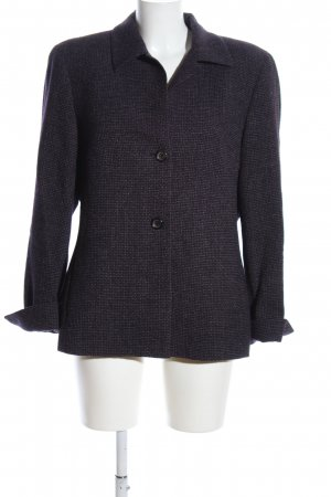 KS Selection Kurz-Blazer schwarz Webmuster Business-Look