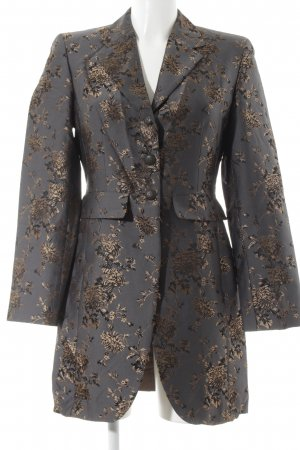 KS Selection Long-Blazer florales Muster Glanz-Optik