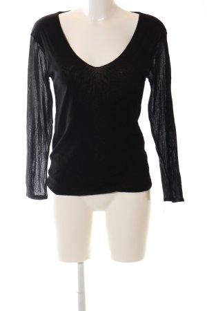 KS Selection V-Ausschnitt-Shirt schwarz Casual-Look