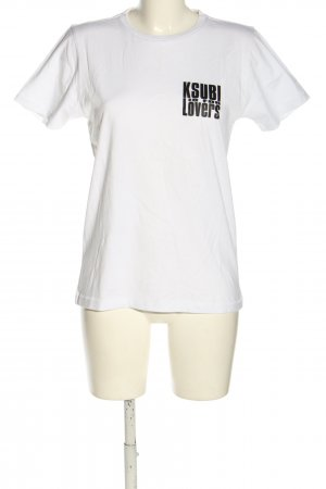 Ksubi T-Shirt weiß Schriftzug gedruckt Casual-Look