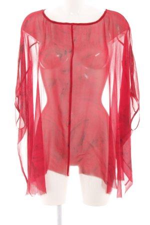 Ksubi Transparenz-Bluse rot Elegant