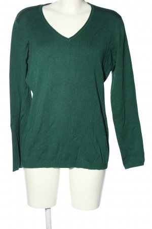 KTown V-Ausschnitt-Pullover khaki Casual-Look