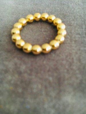 Kügelchen-Ring gold, außergewöhnlich im Design, Premium, Luxus, Juwelier