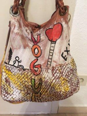 Künstlertasche aus Italien, Unikat aus Leder! NP=450€