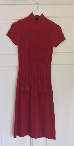 Mexx Knitted Dress red viscose