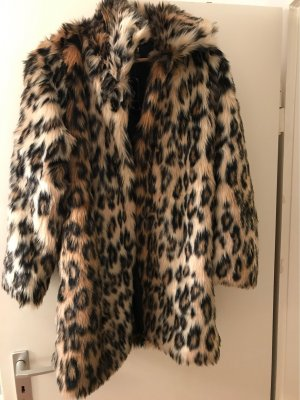 100% Fashion Short Coat multicolored fake fur