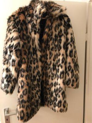 100% Fashion Short Coat multicolored fake fur