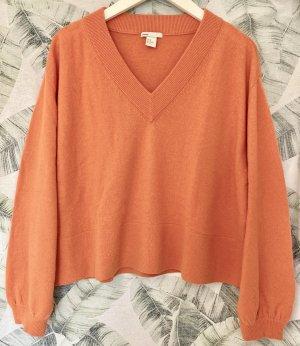 H&M Premium Pull en cashemire orange cachemire