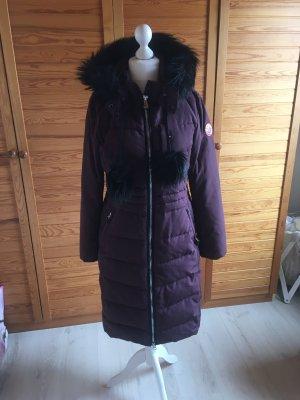 Khujo Manteau à capuche bordeau-violet