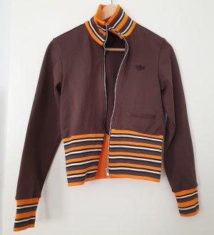 Adidas Giacca sport marrone-arancione