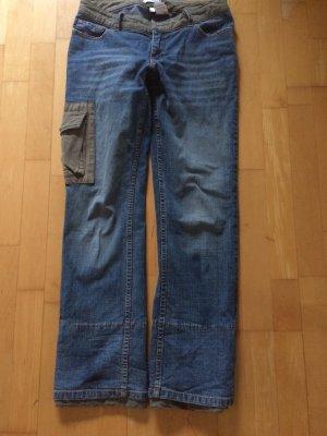 Kultige Jeans mit Fischgrät Applikationen Gr 38 von Heine