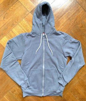 kultiges Flex Fleece Unisex American Apparel Zip-Hoody Sweatjacke Gr. S (M) 36/38 in slate grau NEU!