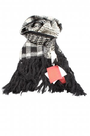 kuna Fringed Scarf black-white check pattern casual look