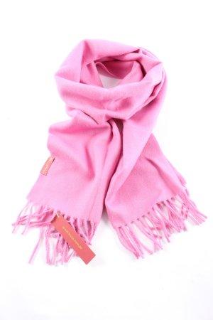 kuna Fransenschal pink Business-Look