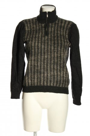 kuna Wool Sweater black-nude striped pattern casual look