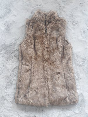 Bershka Fake Fur Vest multicolored
