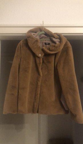 Pink Giacca di pelliccia marrone chiaro