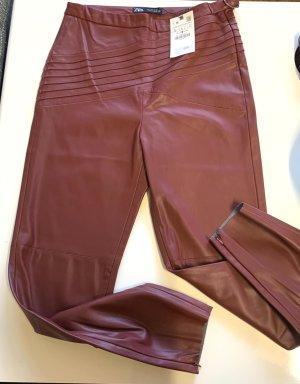Kunst Leder leggings von ZARA