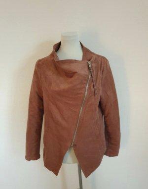 H&M Chaqueta de cuero de imitación rojo amarronado