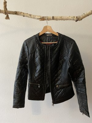 Street One Faux Leather Jacket black-silver-colored