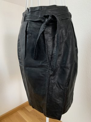 Kunst-Lederrock high-waist H&M Gr. 36