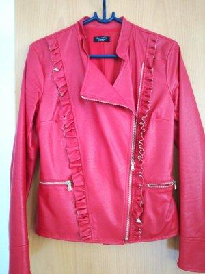 Leather Blazer red