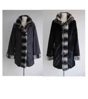 Dennis Basso Reversible Jacket black-grey mixture fibre