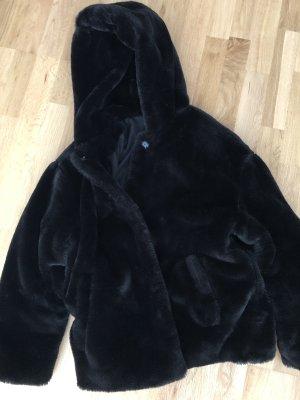 Zara Basic Veste en fourrure noir