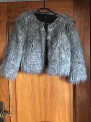 W118 by Walter Baker Fake Fur Jacket black-white