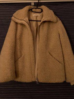 H&M Fake Fur Jacket beige