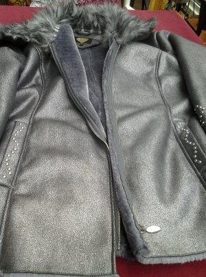 Sarah Kern Fake Fur Jacket silver-colored