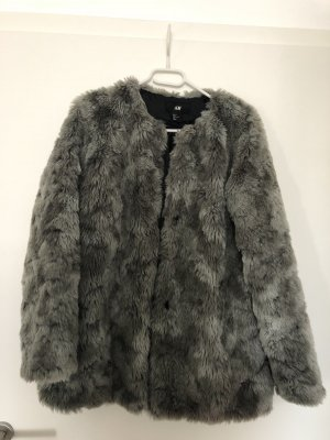H&M Fake Fur Jacket multicolored