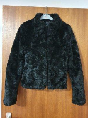 no name Fake Fur Jacket black
